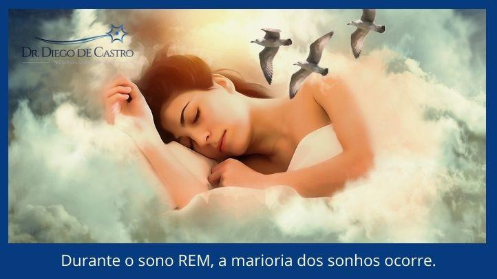 Durante o sono REM, a marioria dos sonhos ocorre.